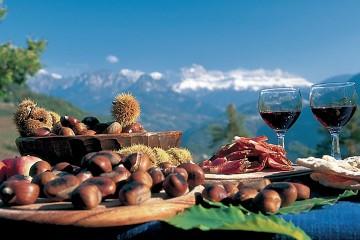 Kasztany i młode wino (Południowy Tyrol)