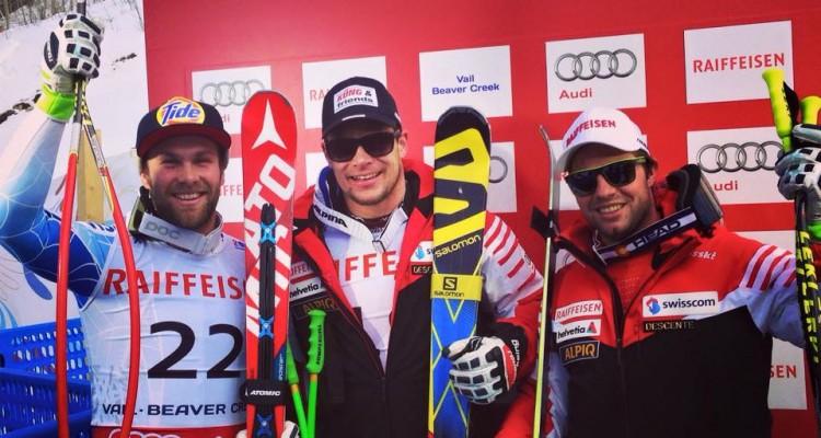 Podium DH mężczyzn MŚ Beaver Creek (fot. FIS Alpine World Tour)