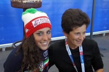 Federica Brignone z mamą