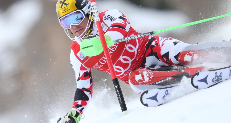 VAL D ISERE,FRANCE,13.DEC.15 - ALPINE SKIING - FIS World Cup, slalom, men. Image shows Marcel Hirscher (AUT). Photo: GEPA pictures/ Andreas Pranter