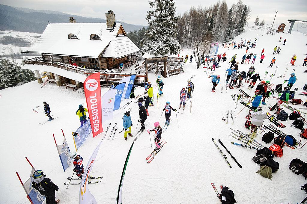 Slalomowy ogródek startowy