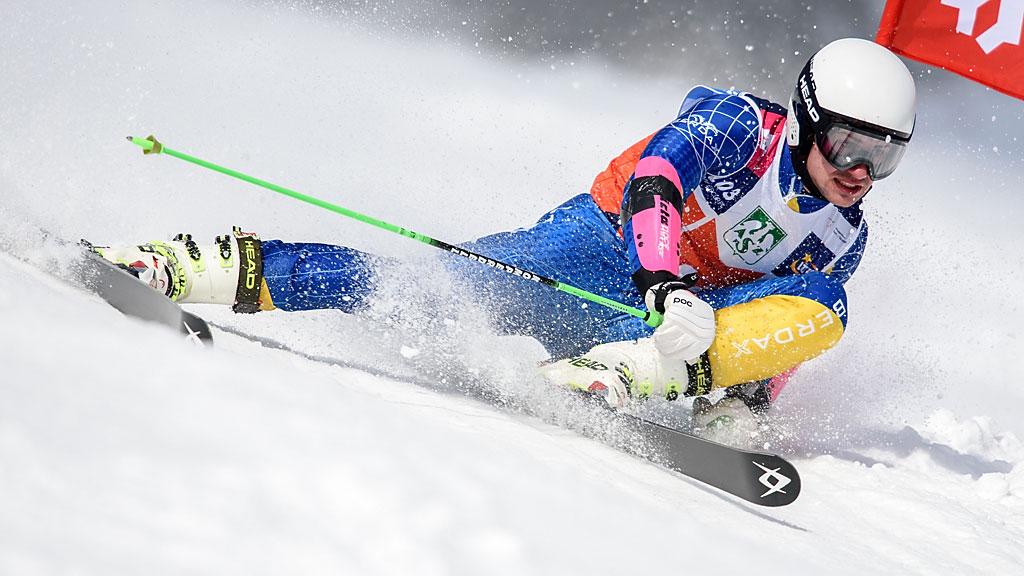 Szymon Mitan wdrodze podrugie wtym sezonie złoto wgigancie