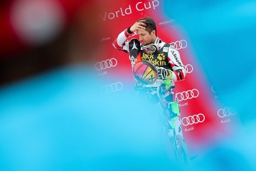 KRANJSKA GORA,SLOVENIA,06.MAR.16 - ALPINE SKIING - FIS World Cup, slalom, men, award ceremony. Image shows Marcel Hirscher (AUT). Picture shot with a Canon EOS-1D X Mark II sample. Photo: GEPA pictures/ Christian Walgram