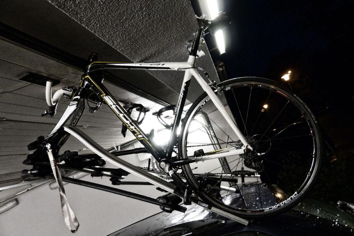 rower na dachu
